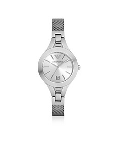 Stainless Steel Women's Watch w/Mesh Strap - Emporio Armani