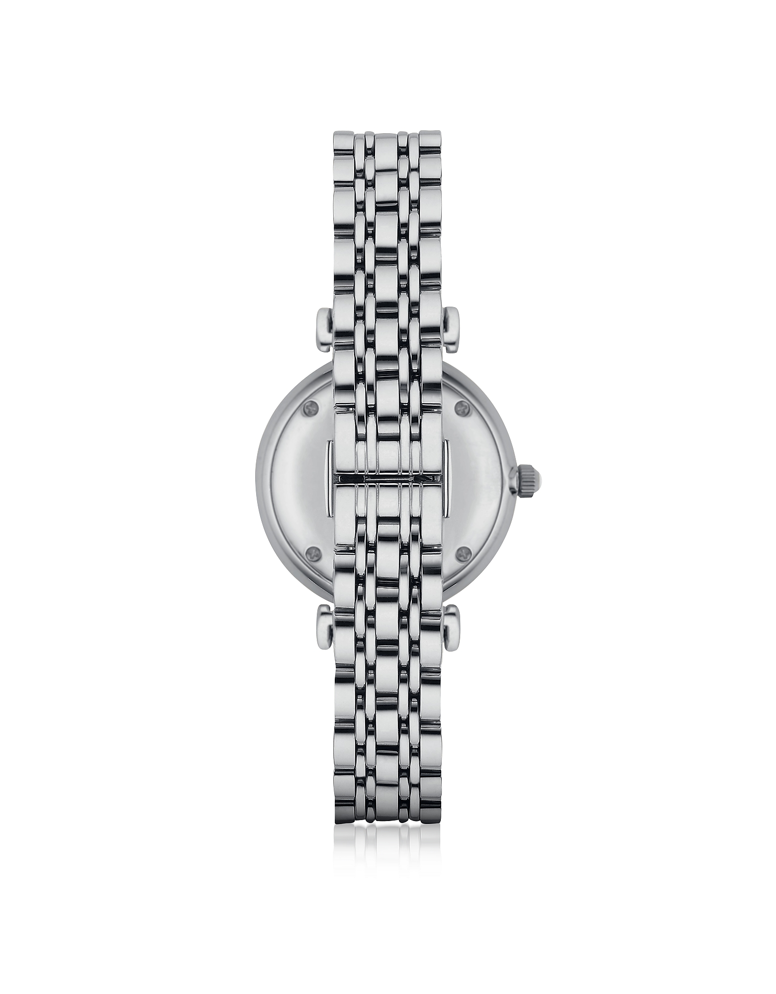 T-Bar Silvertone Stainless Steel Women's Watch w/Mother of Pearl and Crystals Dial от Forzieri.com INT
