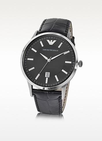 Emporio Armani Мужские Часы из Нержавеющей Стали с Черным Циферблатом