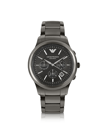 Emporio Armani - Renato - Polished Black Ceramic Watch