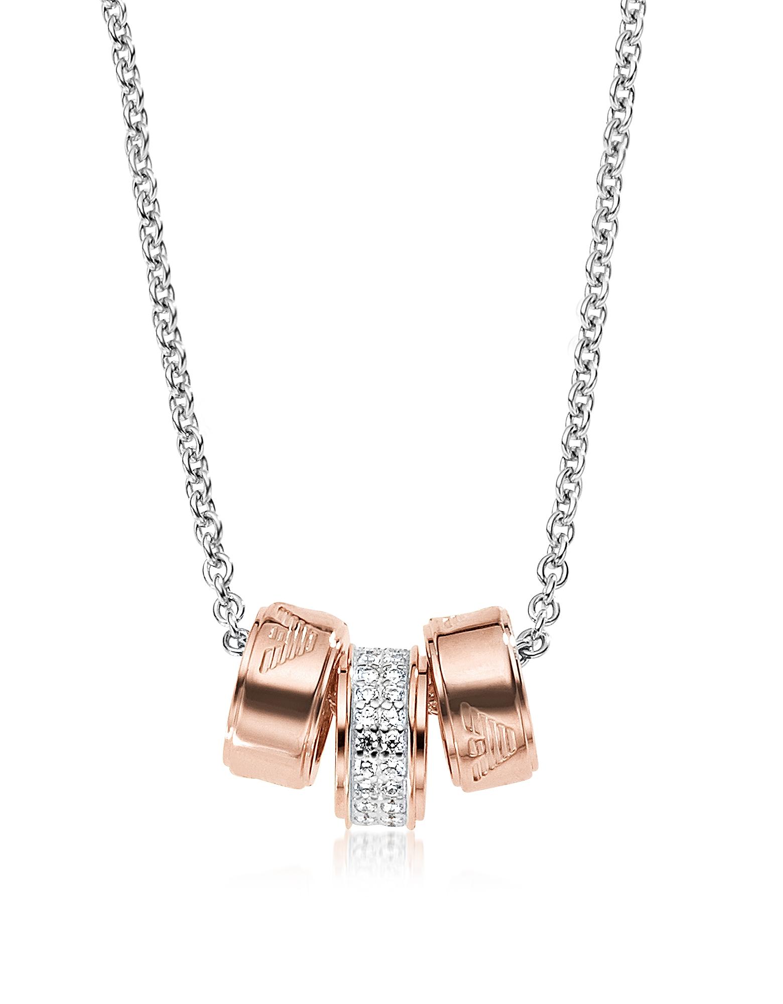Фото Heritage Stealing - Ожерелье из Серебра с Напылением Розового Золота и Чармами. Купить с доставкой