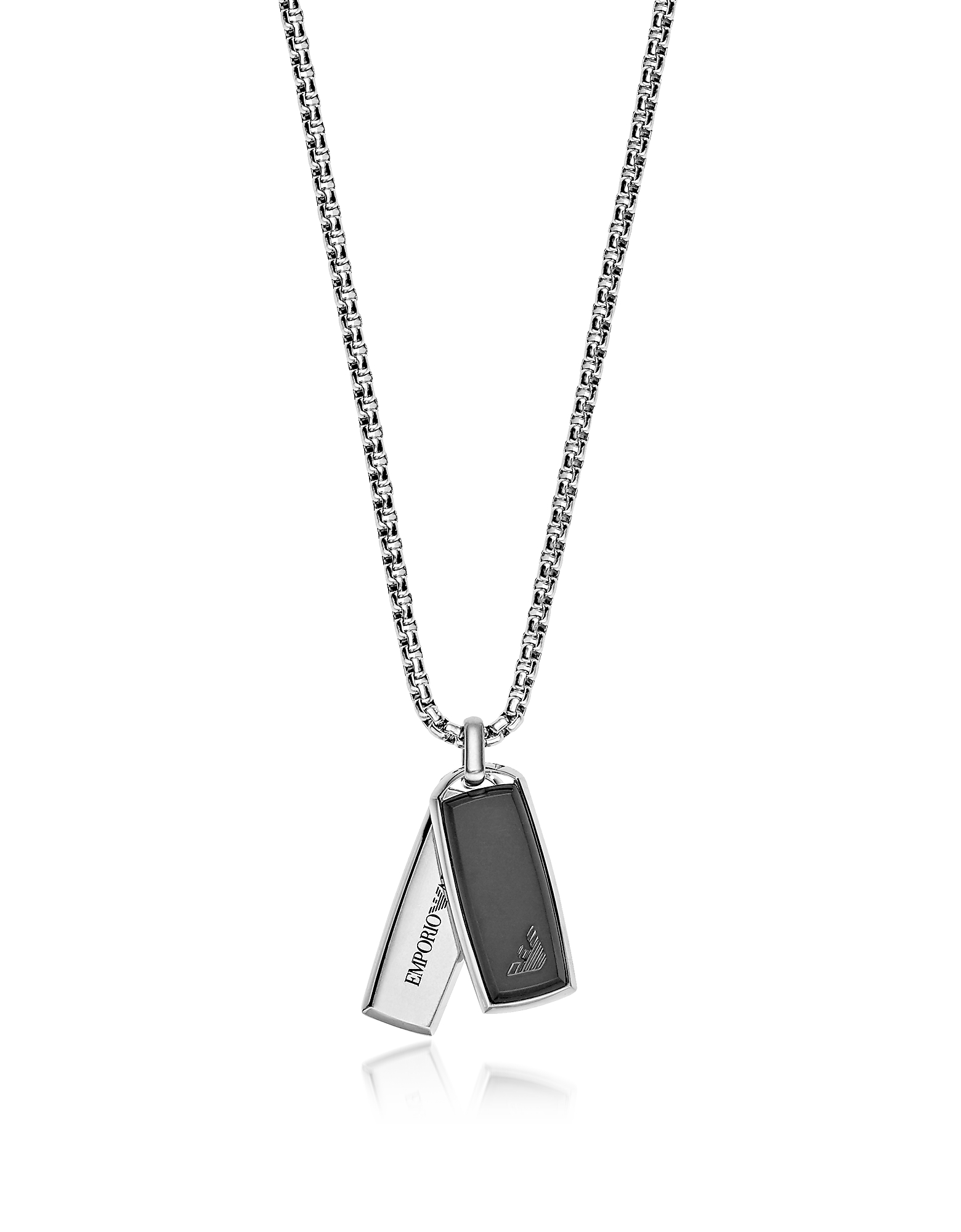 Signature Rectangular Pendants Men's Necklace