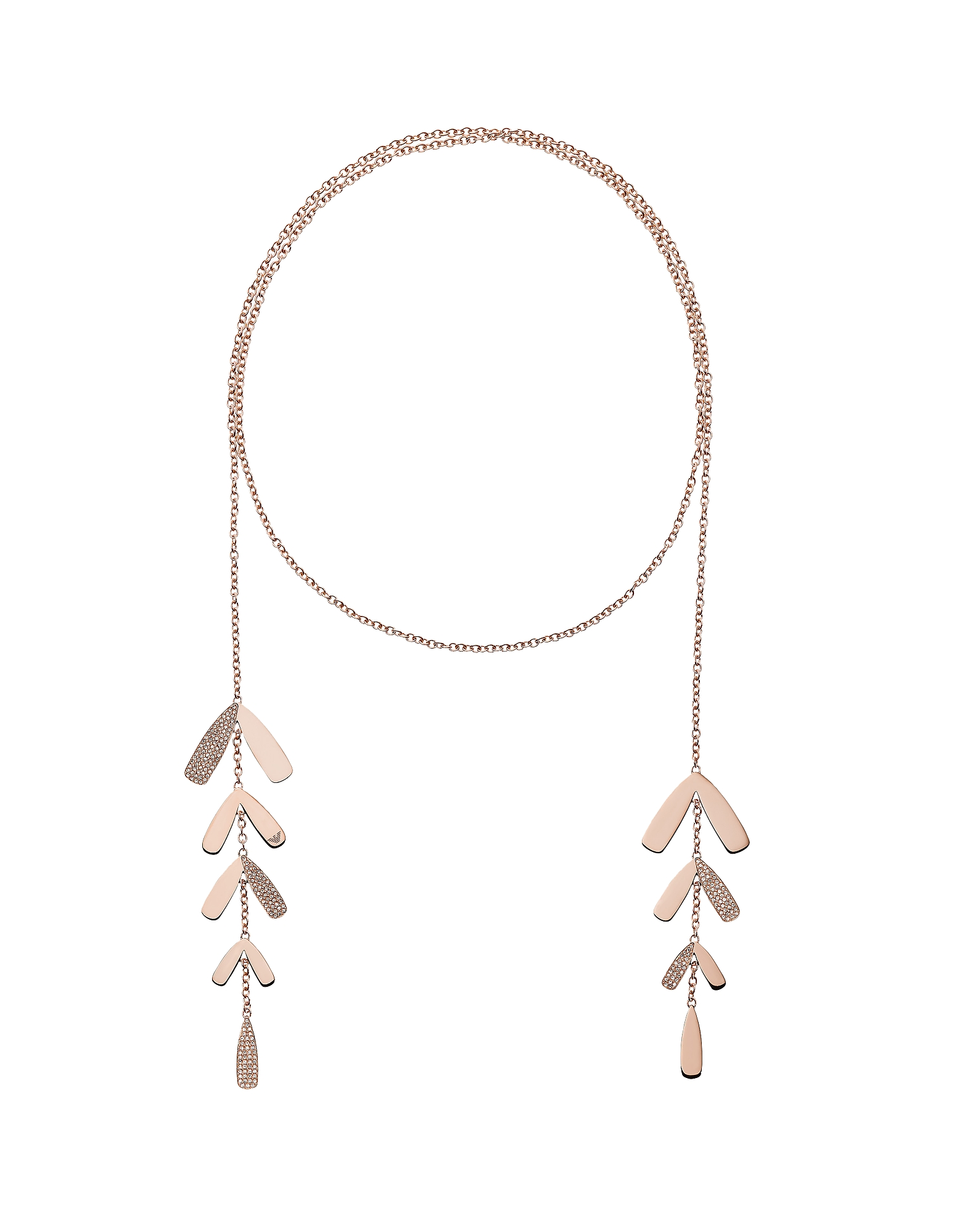 Abstract Leaves and Crystals Women's Necklace