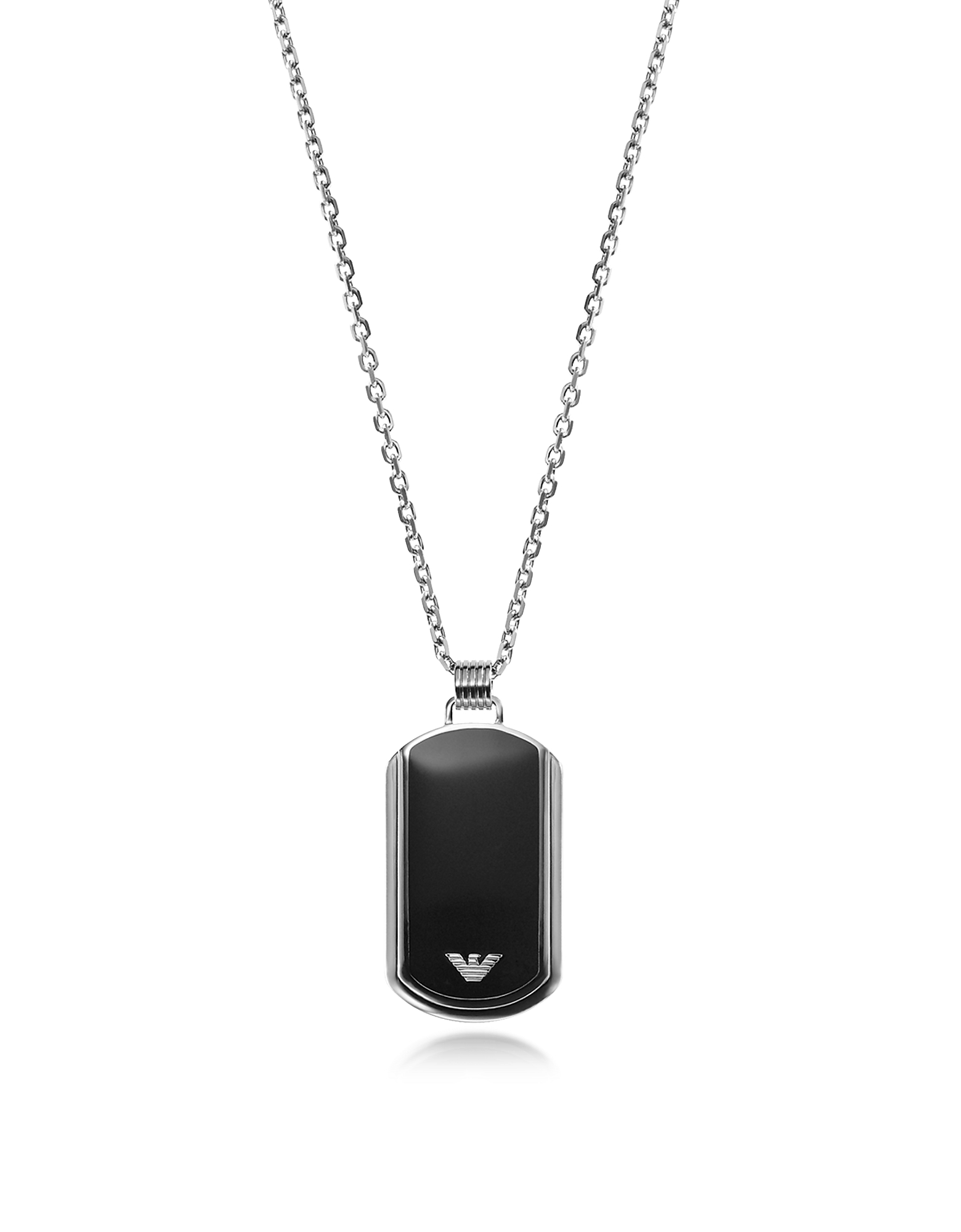 Iconic Stainless Steel w/Black Enamel Charm