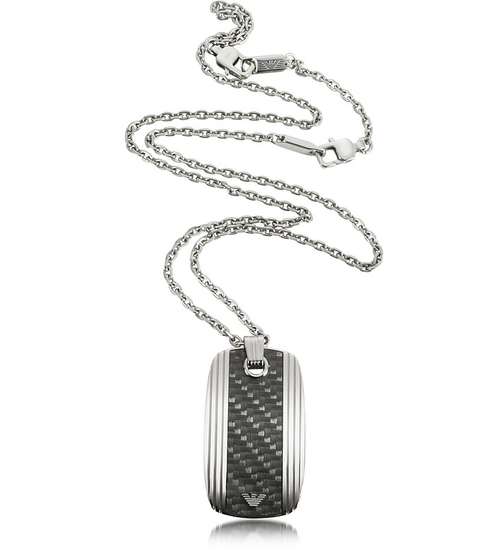 Stainless Steel Men's Necklace - Emporio Armani