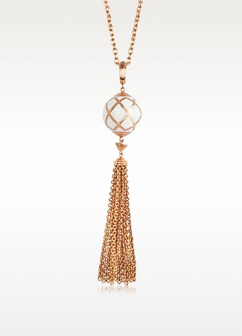 Rose Gold Plated Stainless Steel Long Necklace - Emporio Armani