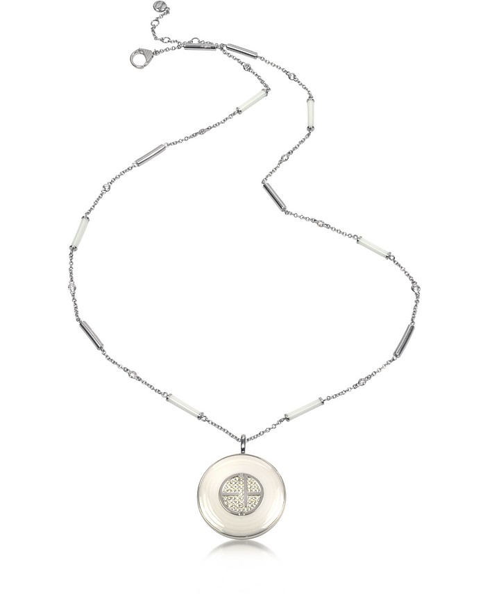 Ceramic and Stainless Steel Necklace - Emporio Armani