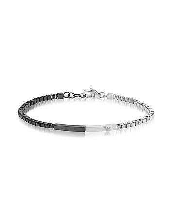 Emporio Armani - Heritage Two Tone Stainless Steel Men's Bracelet