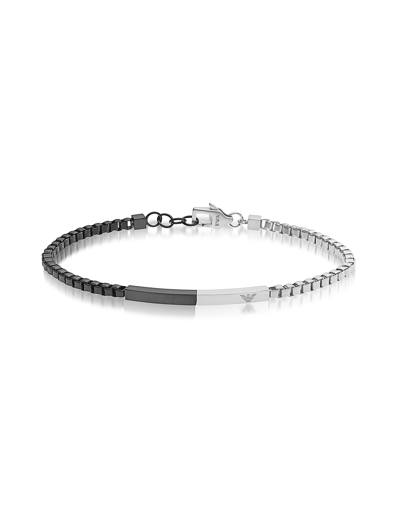 Heritage Two Tone Stainless Steel Men's Bracelet от Forzieri.com INT