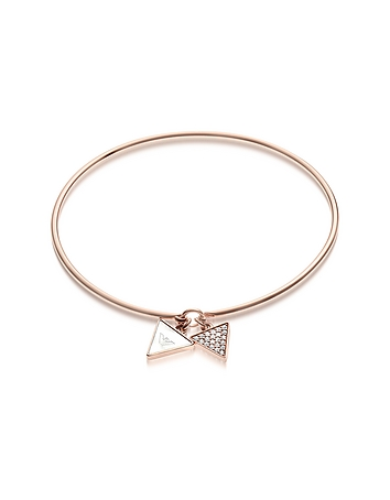 Emporio Armani - Signature Rose Goldtone Bangle w/Double Charm