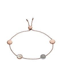 Signature Rose Goldtone Bracelet w/Charms - Emporio Armani