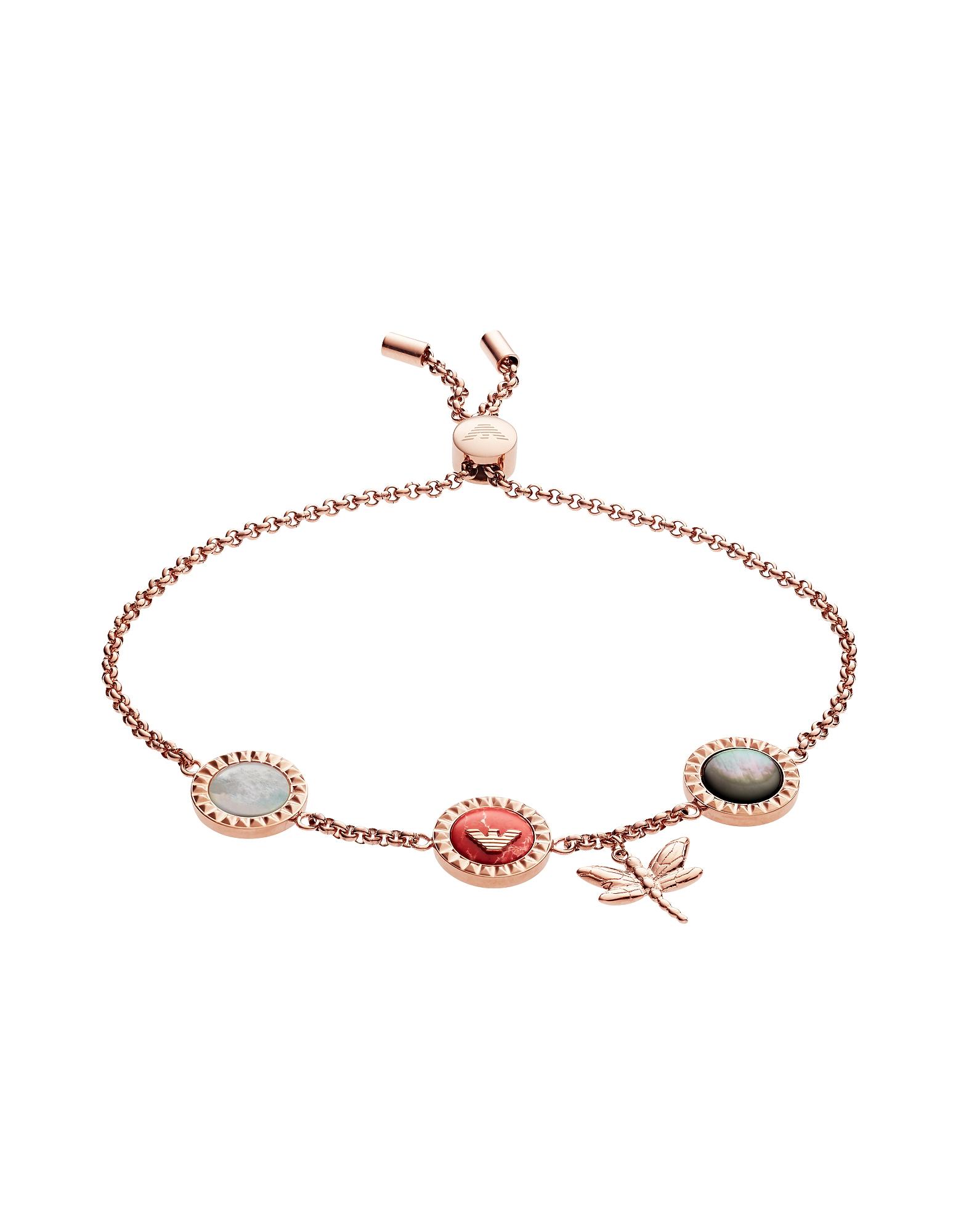 Emporio Armani  Bracelets Dragonfly and Signature Medallion Women's Bracelet