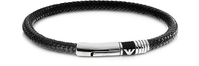 Iconic Woven Stainless Steel Men's Bracelet - Emporio Armani