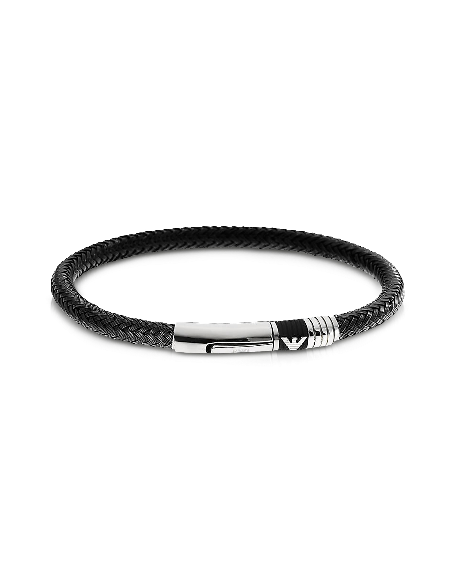 Iconic Woven Stainless Steel Men's Bracelet от Forzieri.com INT