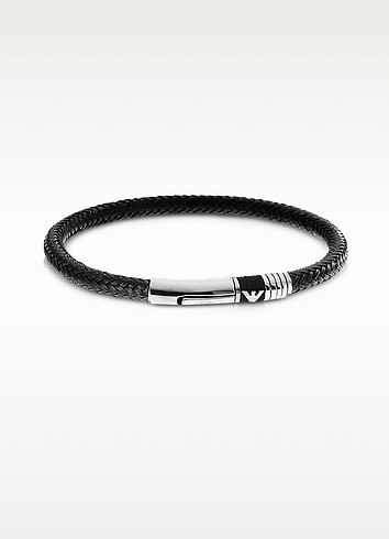 Iconic Woven Stainless Steel Men's Bracelet - Emporio Armani
