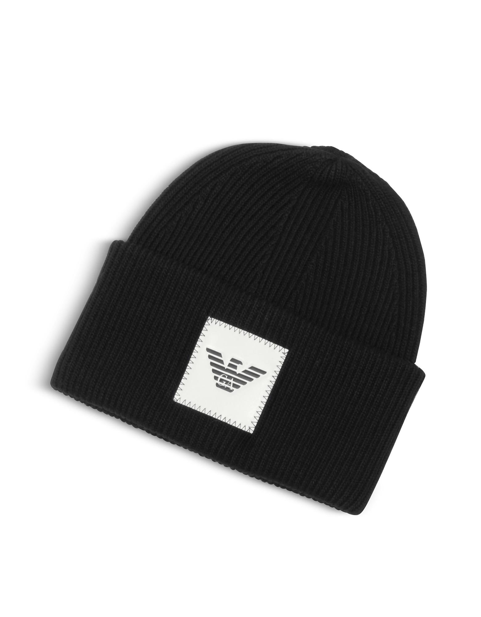 Black EA Beanie Hat