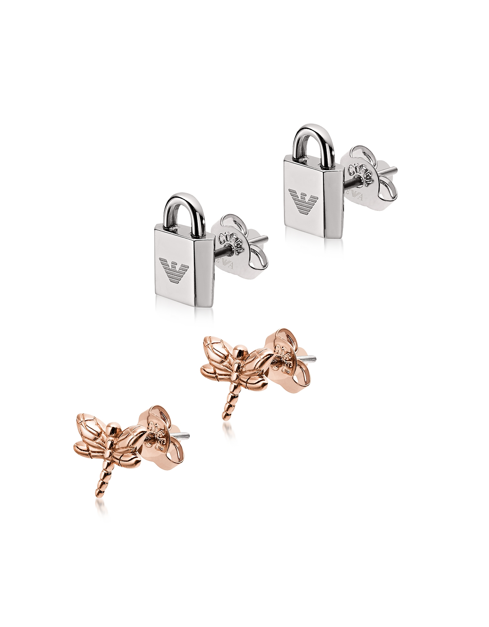 Padlock And Dragonfly Set Women's Earring