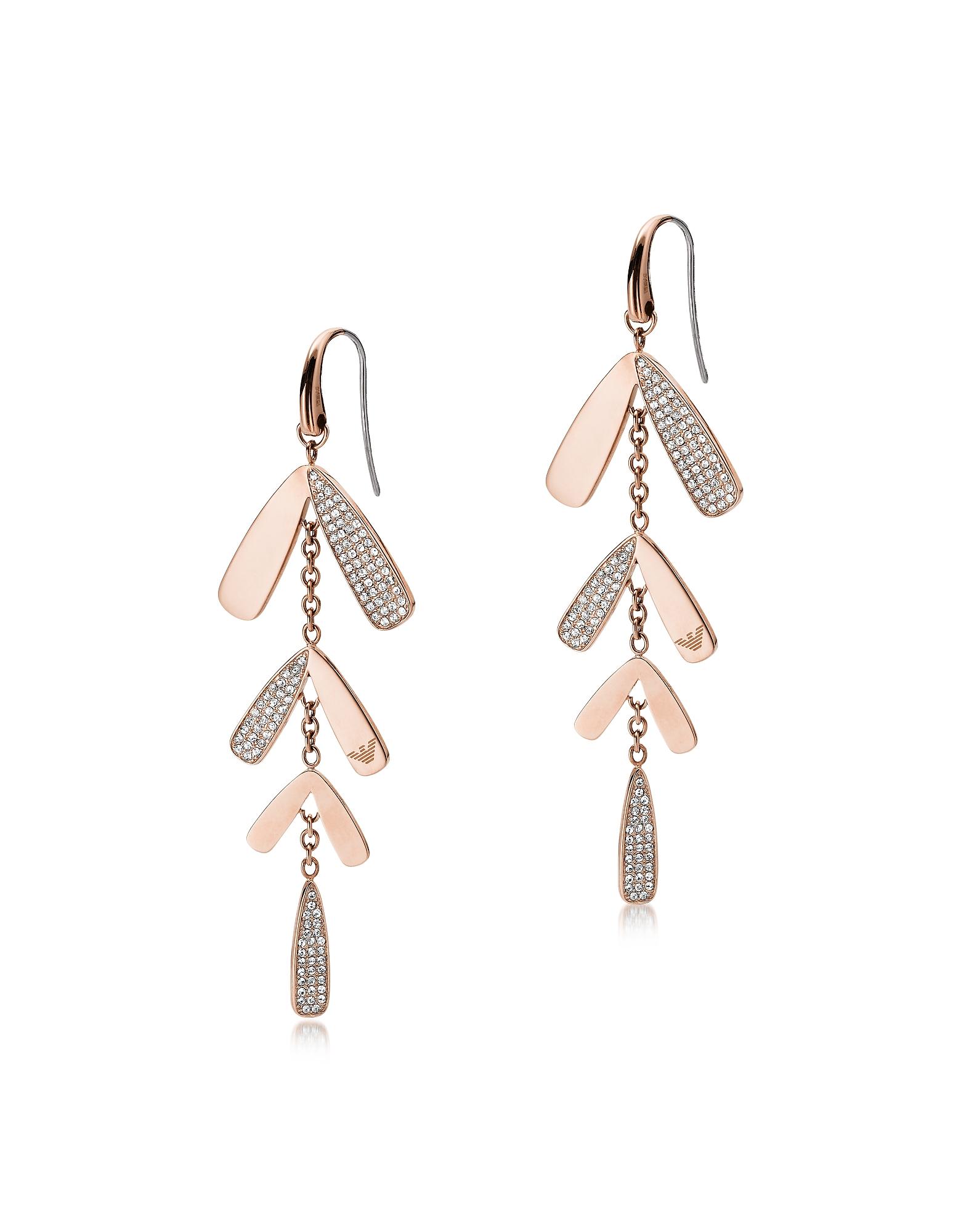 Abstract Leaves Drop Earrings