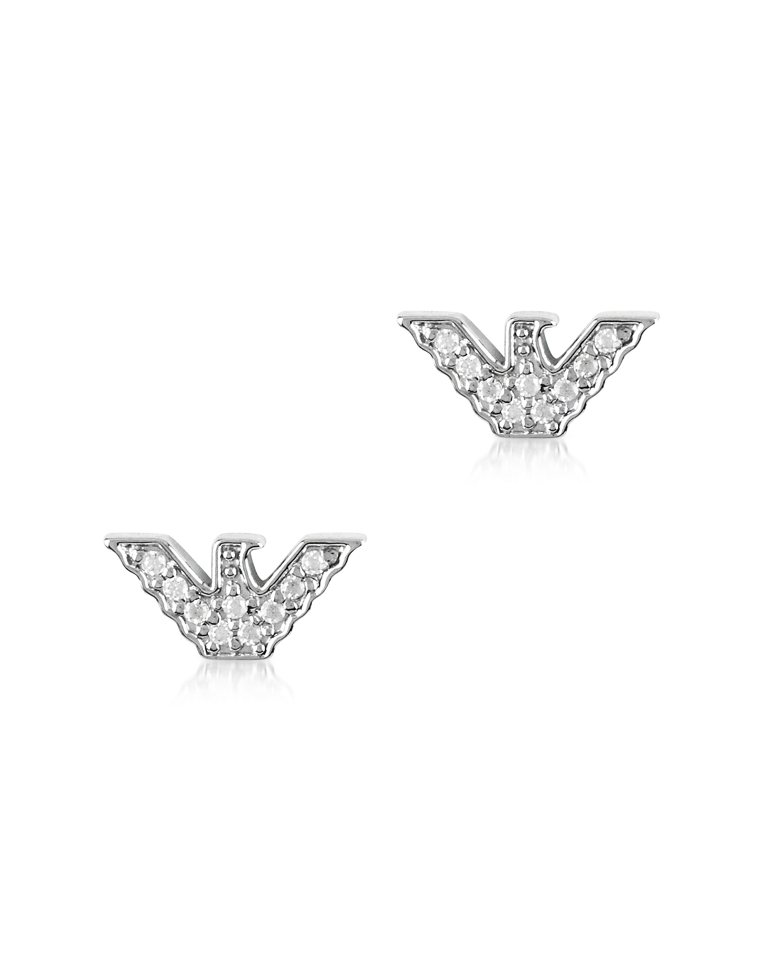 Sterling Silver Signature Eagle Earrings
