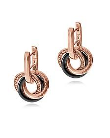 Ohrringe aus versilbertem PVD mit Kristallen und Sterlingsilber - Emporio Armani