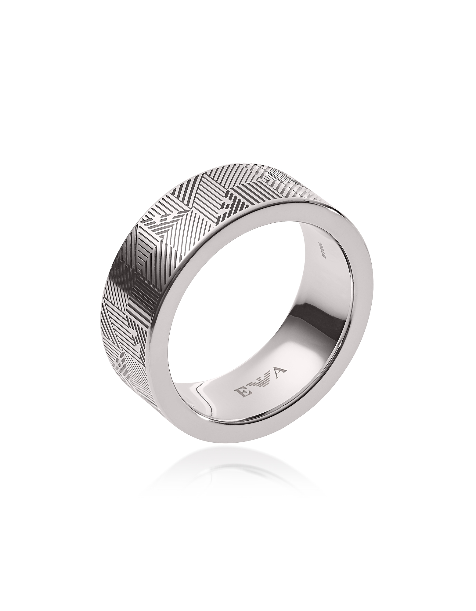 Stainless Steel Geometric Eagle Men's Ring