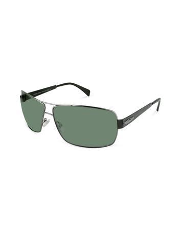Giorgio Armani Metal Signature Rectangular Sunglasses