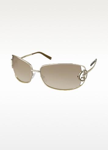 Open Lens Logoed Metal Sunglasses - Giorgio Armani