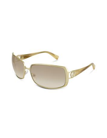 Foto Giorgio Armani Rechteckige Sonnenbrille mit Logo mit Swarovskisteinen besetzt