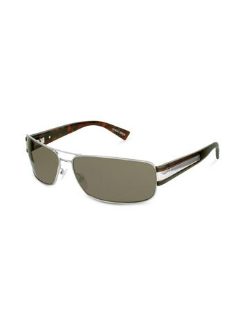 Giorgio Armani Signature Metal Strip Rectangular Sunglasses