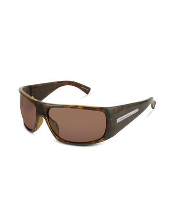 Giorgio Armani Signature Plate Plastic Rectangular Sunglasses