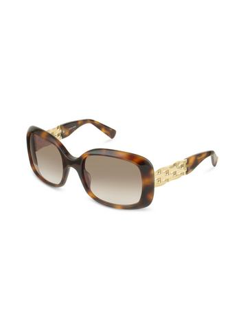 Giorgio Armani Metal Mesh Temple Square Sunglasses