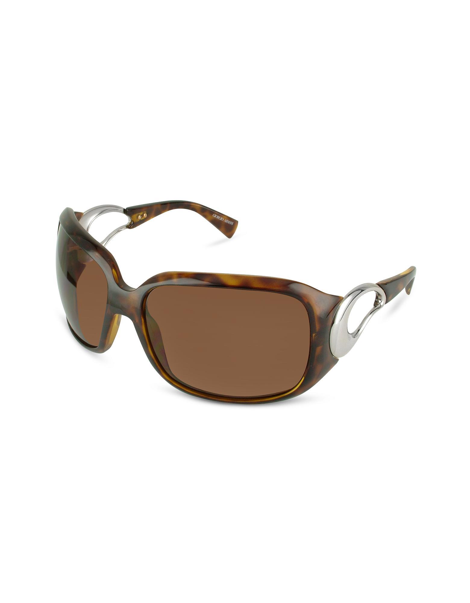 Giorgio Armani  Signature Cutout Temple Sunglasses
