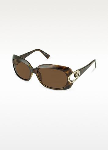 Crystal Logo Rectangular Sunglasses - Giorgio Armani