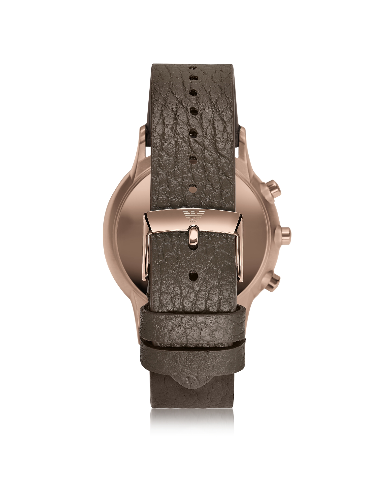 Connected Rose Gold-Tone PVD Stainless Steel Hybrid Men's Smartwatch w/Leather Strap от Forzieri.com INT
