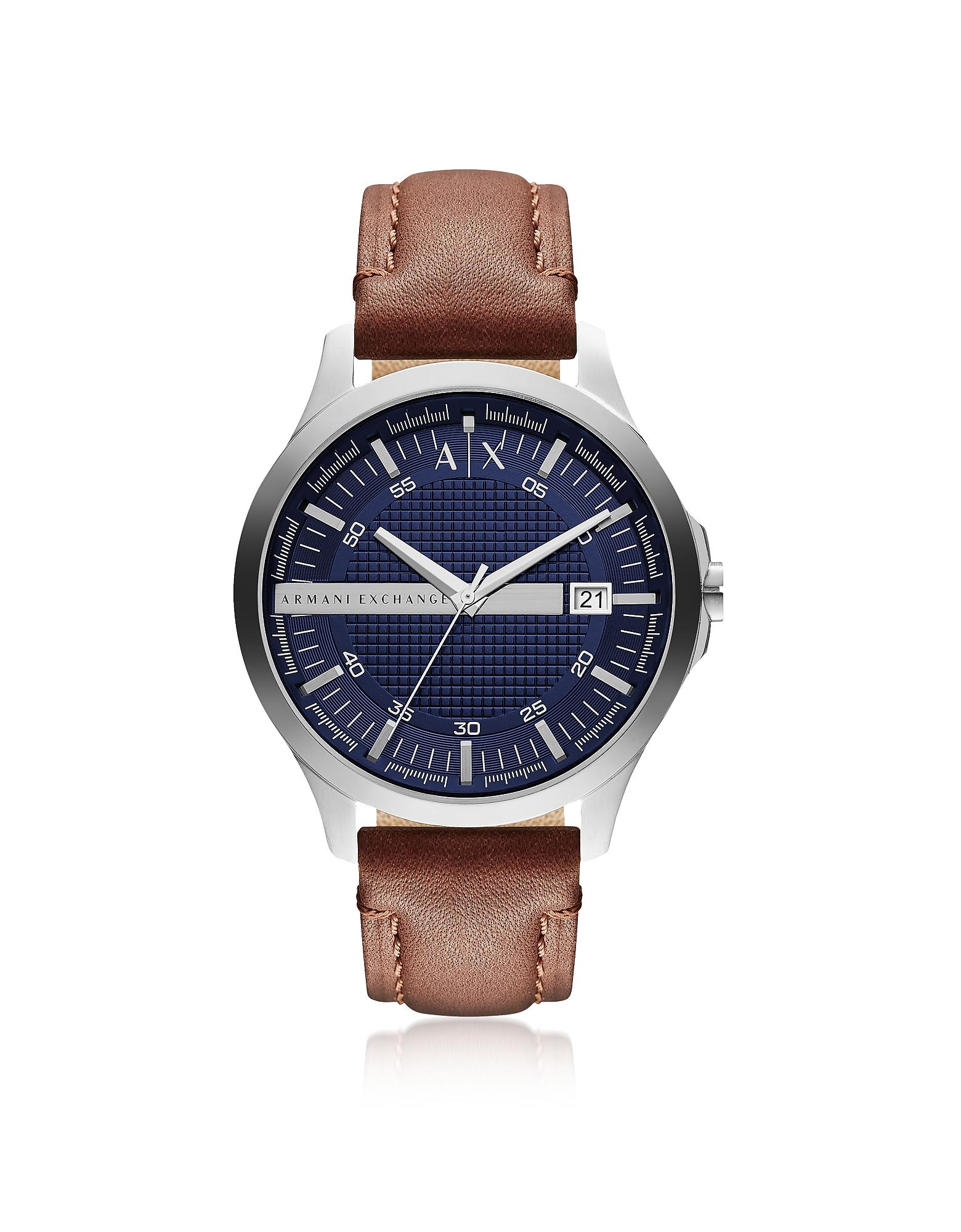 Armani Exchange Men's Watches, Hampton Brown Leather Men's Watch