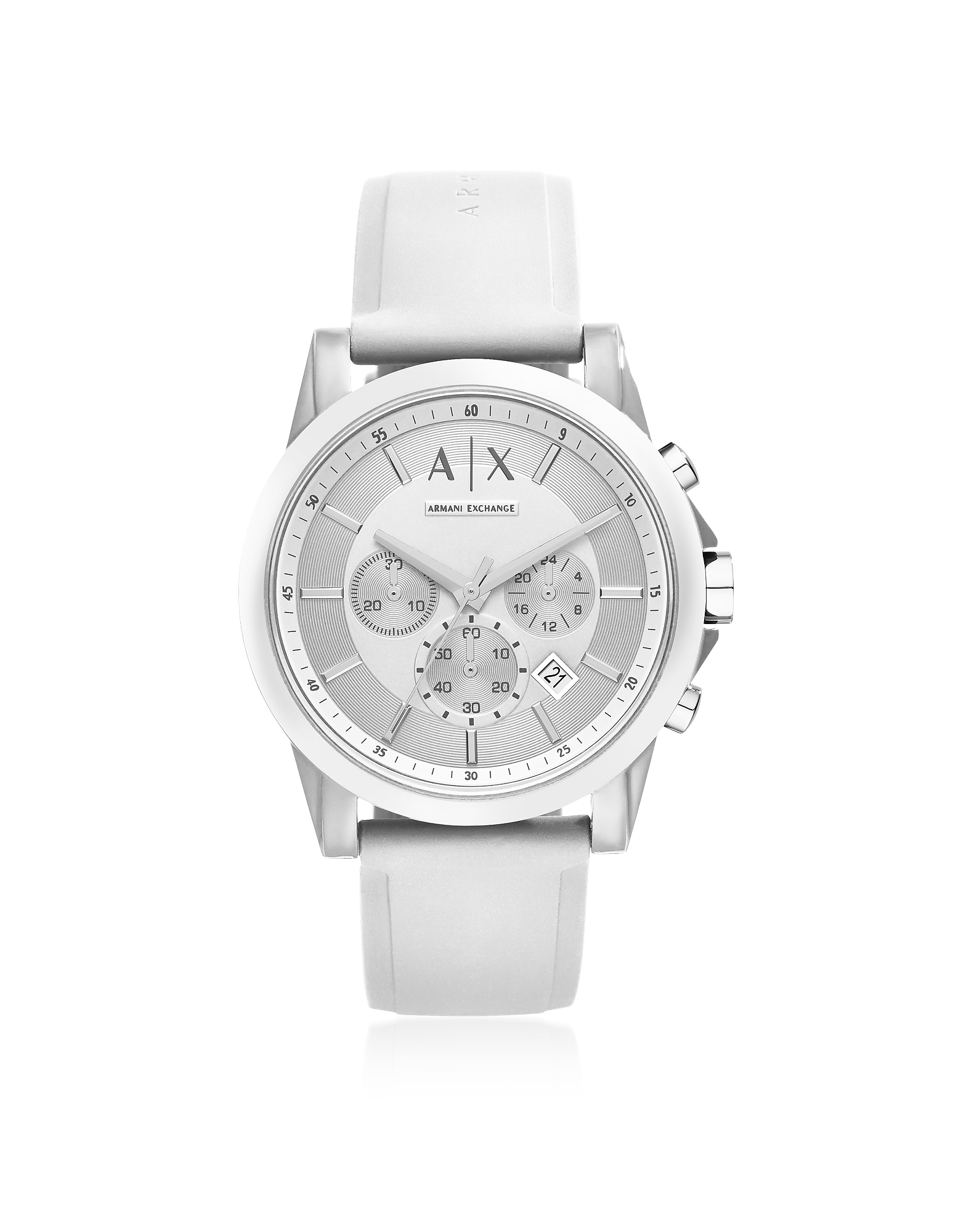 Outerbanks White Silicone Men's Chronograph Watch