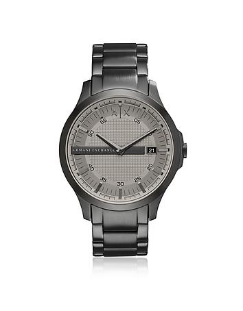 Armani Exchange Hampton Grey Dial with Grey Tone Stainless Steel Men's Watch