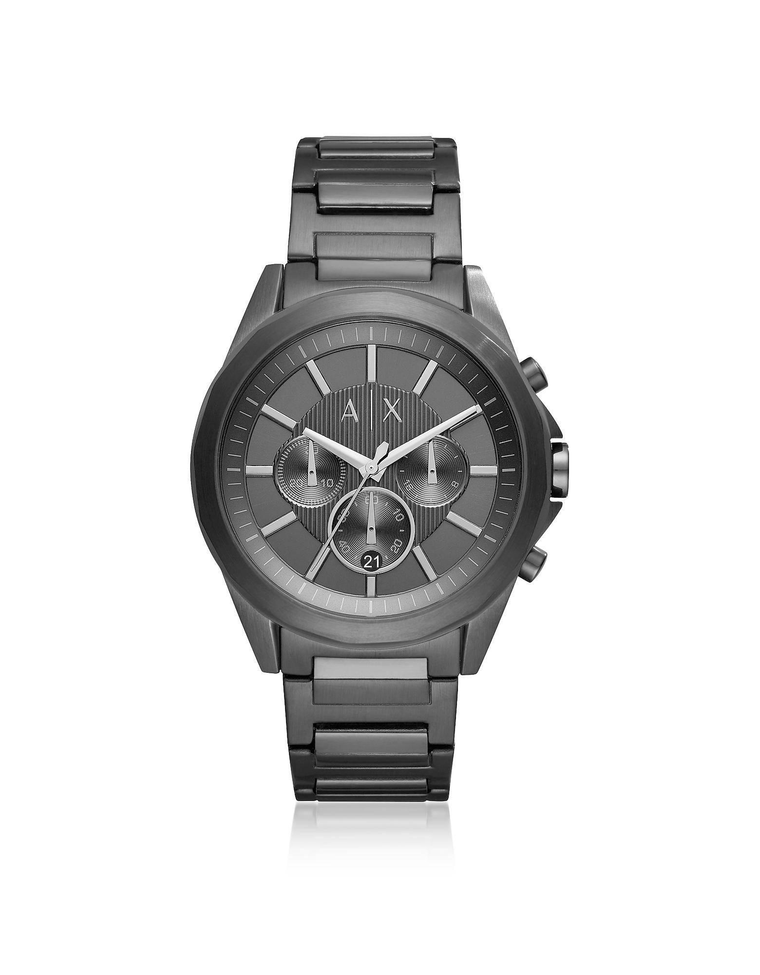 Drexler Black Dial and Black Tone Stainless Steel Men's Chronograph Watch