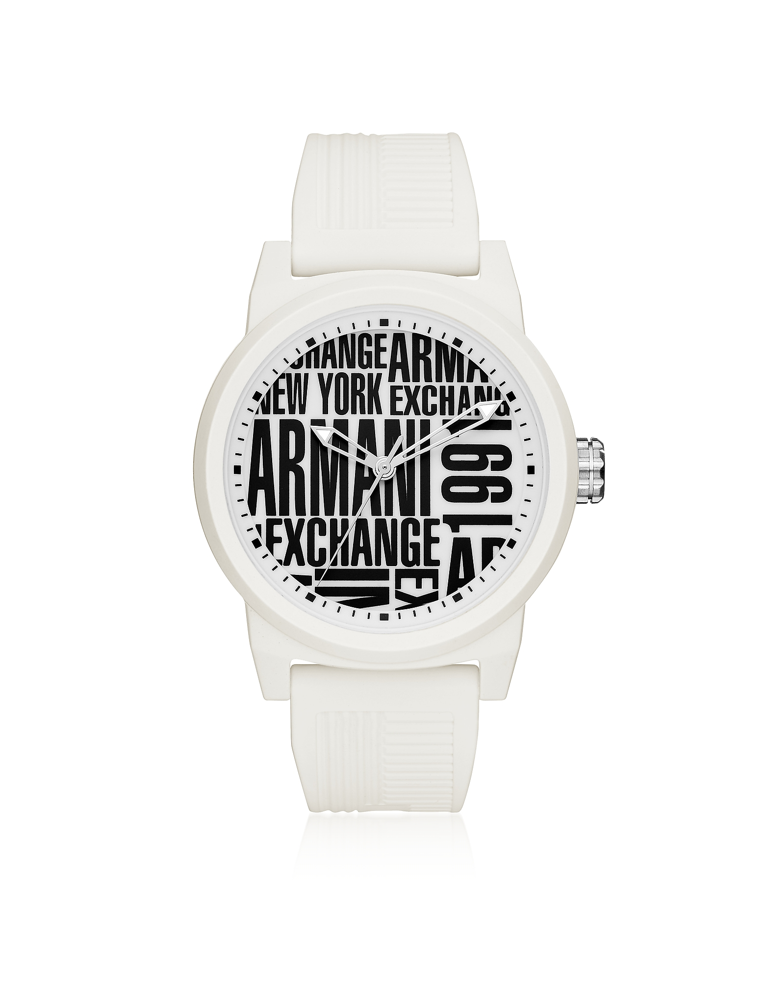 Armani Exchange Men's Watches, Atlc White Silicone Men's Watch