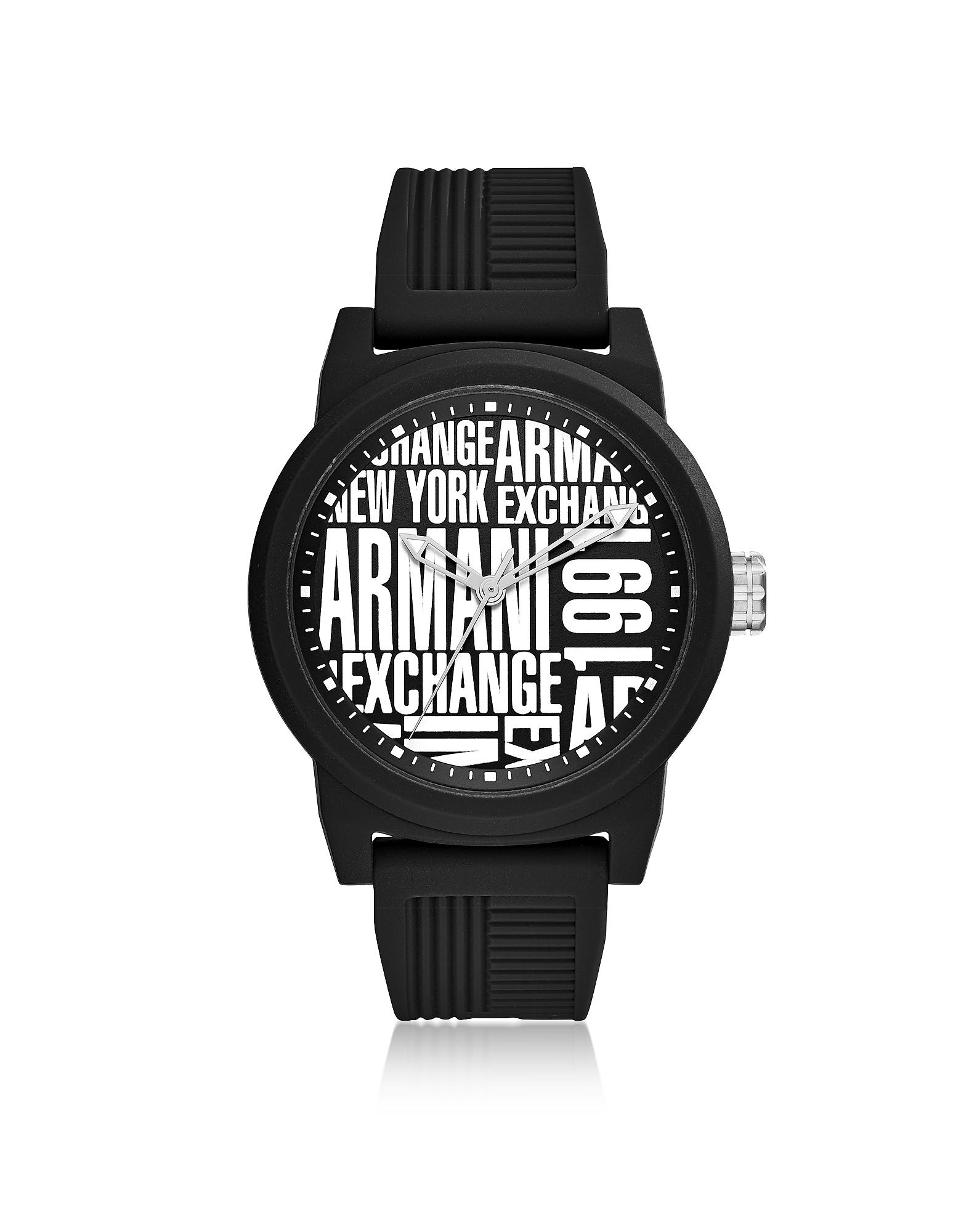 Armani Exchange Men's Watches, Atlc Black Silicone Men's Watch