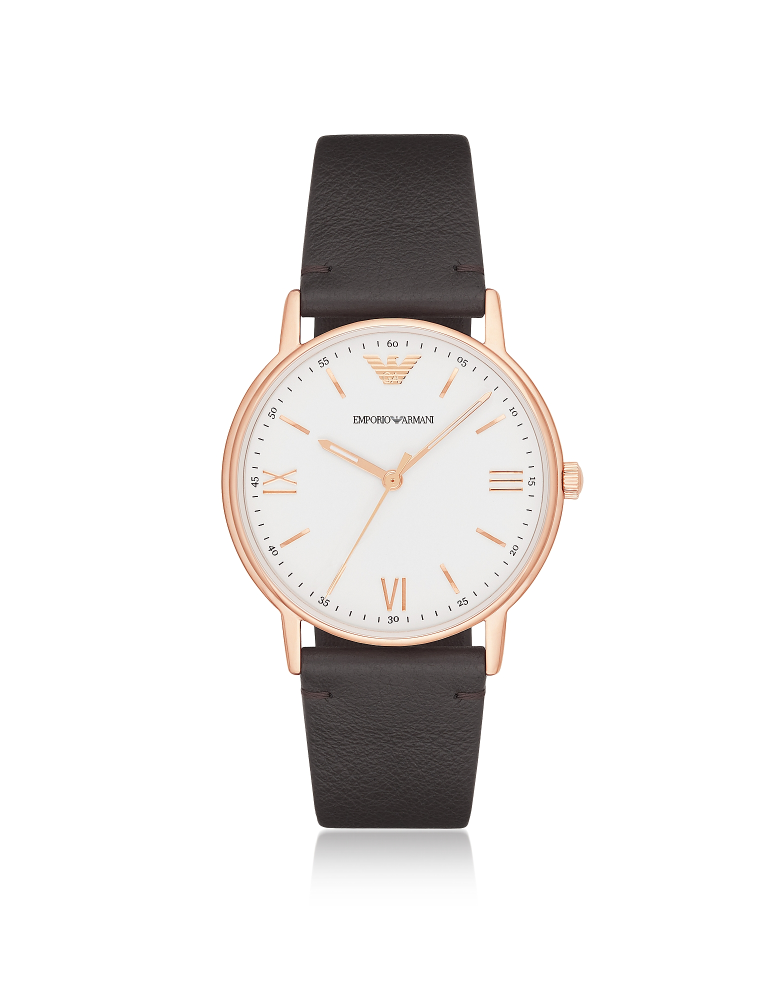 Kappa Rose Gold Tone Stainless Steel Leather Men's Watch