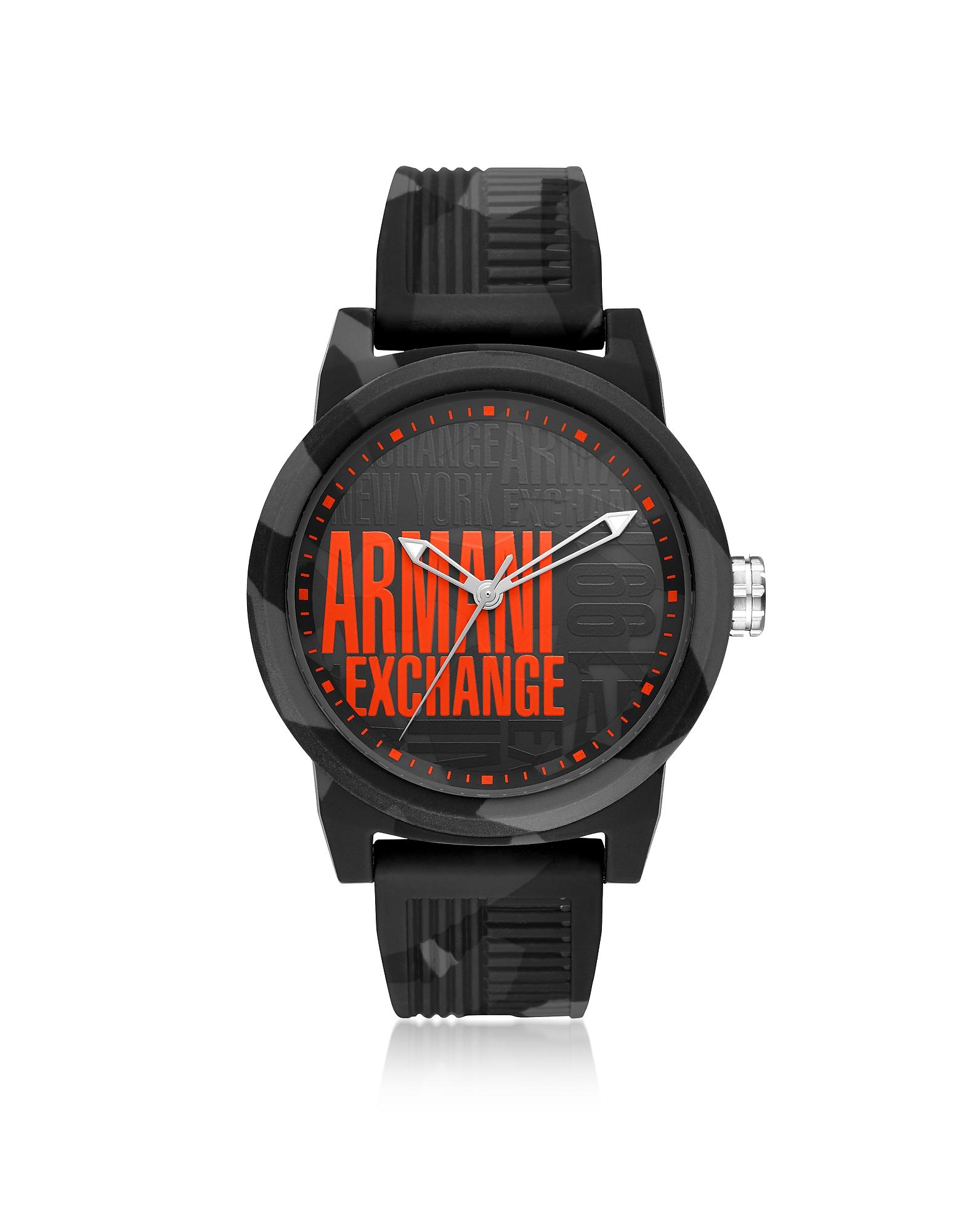 Emporio Armani Men's Watches, Atlc Logo Face Silicone Men's Watch