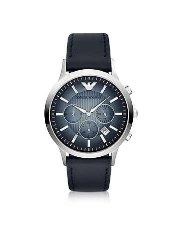 Emporio Armani - Chronograph Leather Band Men's Watch