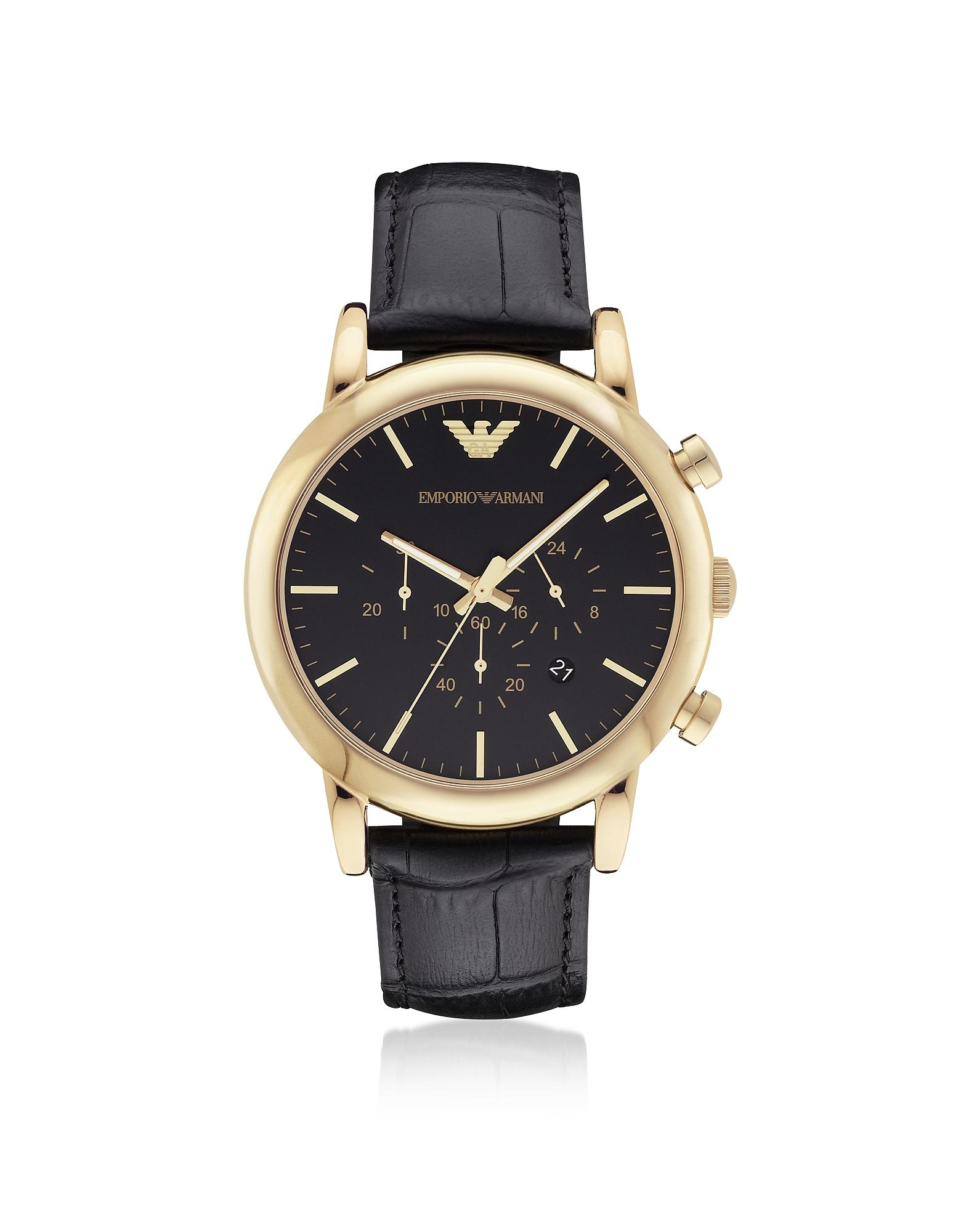 Золотистые Мужские Часы из Нержавеющей Стали