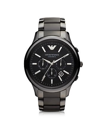 Emporio Armani - Black Ceramic & Stainless Steel Men's Watch