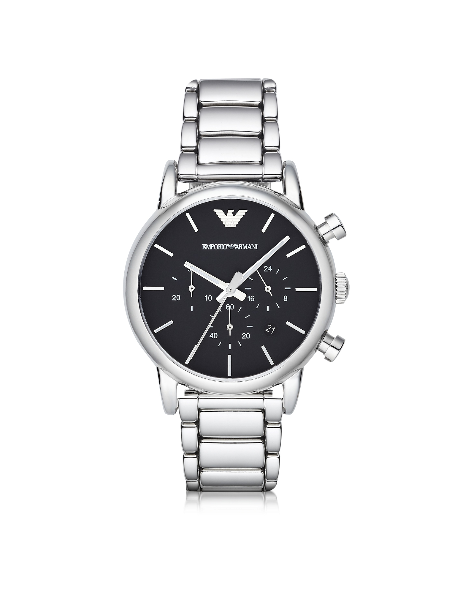 Emporio Armani Men's Watches, Silver Tone Stainless Steel Men's Watch
