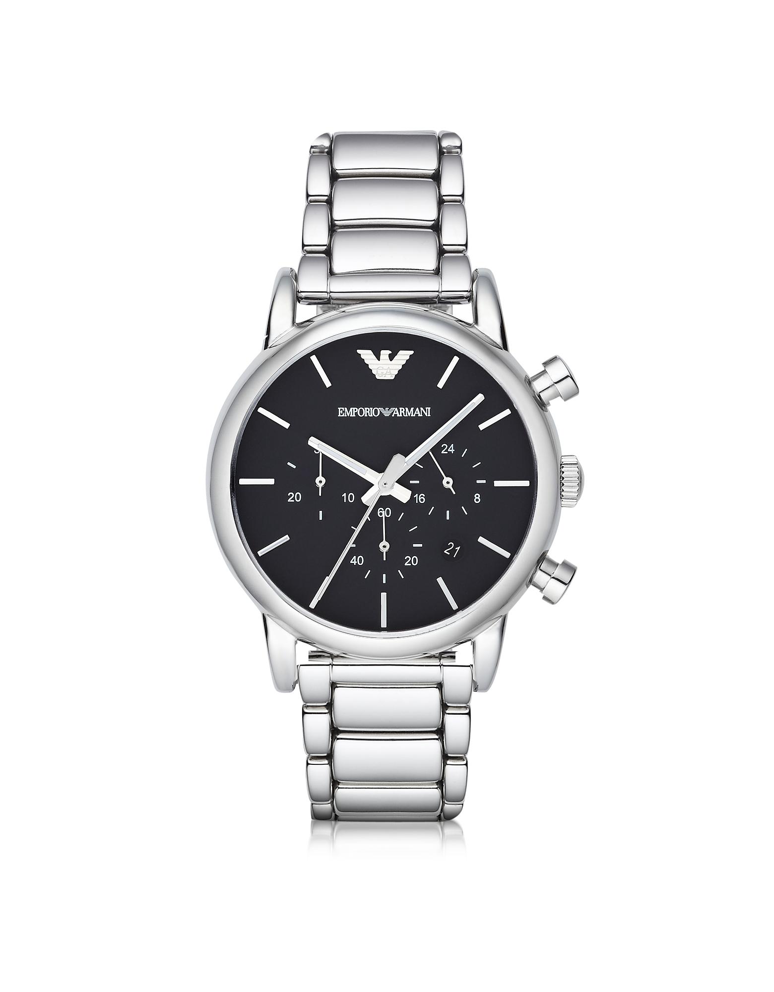 Серебристые Мужские Часы из Нержавеющей Стали