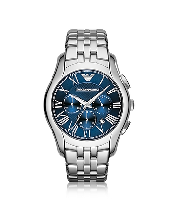 Emporio Armani - New Valente Silver Tone Stainless Steel Men's Watch