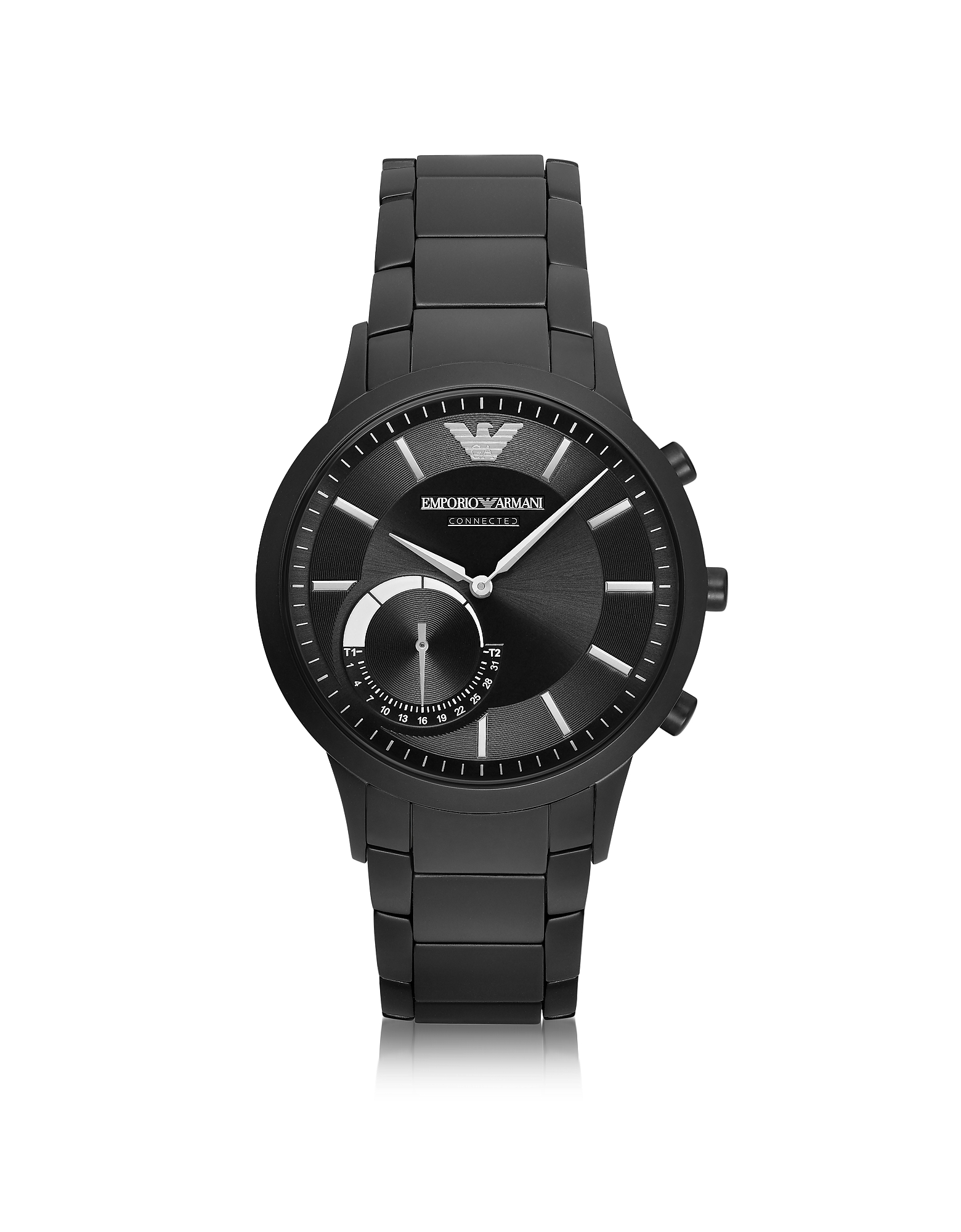 Emporio Armani Men's Watches, Connected Black PVD Stainless Steel Hibrid Men's Smartwatch
