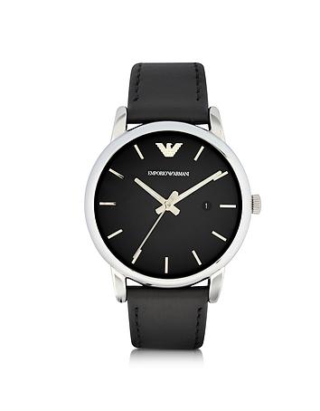 Emporio Armani - Signature Dial Men's Leather Strap Watch